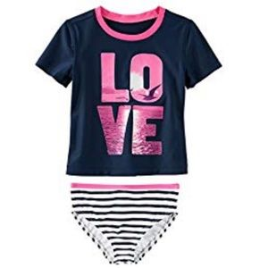 OHSHKOSH B'GOSH GIRLS SIZE 4/5 TWO PIECE SWIMSUIT